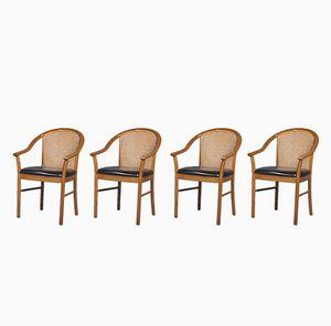 Italienische Armlehnstühle von Consorzio Sedie Friuli, 1950er, 4er Set