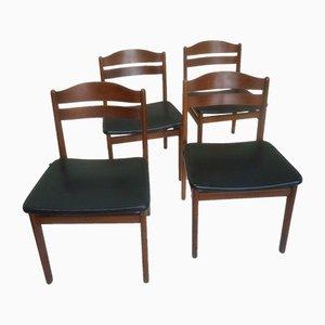 Sedie da pranzo Mid-Century, Danimarca, set di 4