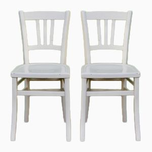 Vintage French Bistro Chairs, Set of 2