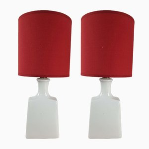 Alka Porcelain Bedside Lamp from Alboth & Kaiser, 1960s, Set of 2