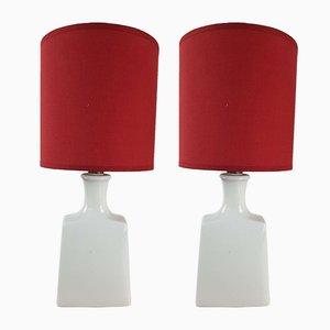 Lampe de Chevet Alka en Porcelaine de Alboth & Kaiser, 1960s, Set de 2