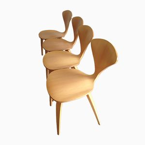 Vintage Side Chairs by Cherner, Set of 4