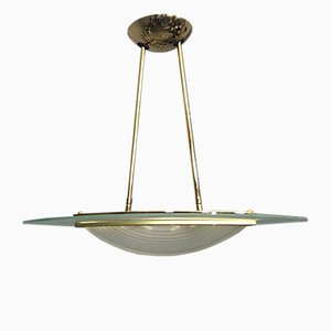 Vintage Spanish Gold-Plated Ceiling Lamp from Fadalesa & Idearte, 1980s