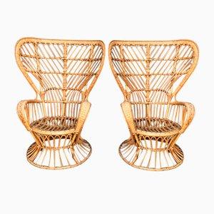 Vintage Sessel von Lio Carminati für Vittorio Bonacina, 1950er, 2er Set