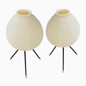 Lampade da tavolo tripode vintage di Heifetz Rotaflex, anni '50, set di 2