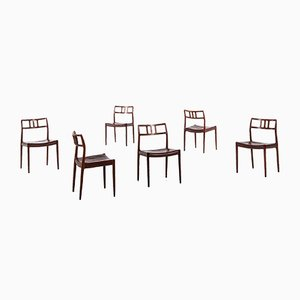 Vintage Model 79 Chairs by Niels O. Møller for J.L. Møllers, Set of 6