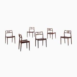 Vintage Model 79 Chairs by Niels O. Møller for J.L. Møllers, Set of 6