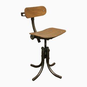 Chaise d'Atelier Vintage de Bienaise, France, 1940s