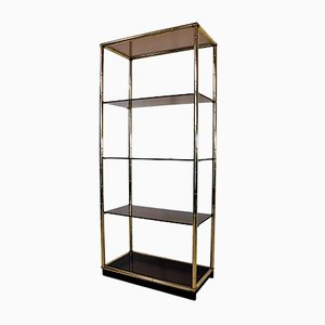 Italian Brass Shelf, 1970s