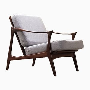 Mid-Century Danish Teak Easy Chair by Arne Hovmand Olsen for Mogens Kold, 1960s