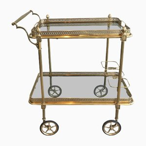 Vintage Neoclassical Glass Trolley by Maison Jansen, 1940s