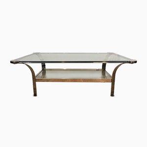 Table Basse Vintage en Chrome Étagères avec en Verre, 1970s