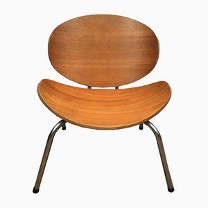 Vintage Stuhl aus Holz & Chrom, 1970er
