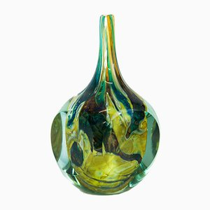 Tricorn Onion Glass Vase by Joseph Said for Mdina, 1976