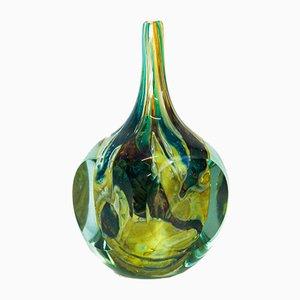 Tricorn Onion Glasvase von Joseph Said für Mdina, 1976
