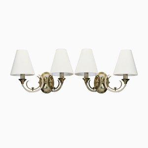 Neoklassizistische französische Vintage Wandlampen, 1930er, 2er Set