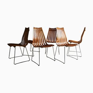 Scandia Esszimmerstühle von Hans Brattrud für Hove Møbler, 1965, 6er Set