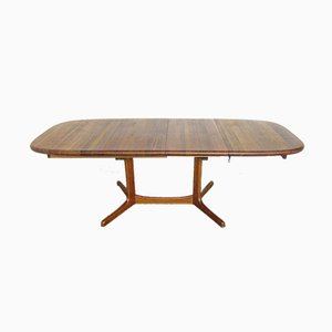 Large Extendable Teak Dining Table, 1970s