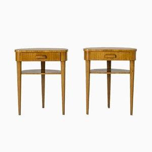 Schwedische Vintage Beistelltische aus Ulmenholz von Bodafors, 2er Set