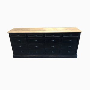 Vintage Oak Bank of 12 Drawers
