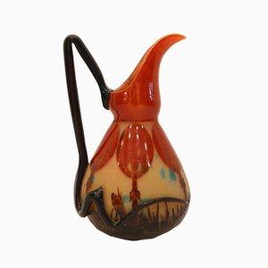 Vintage Coprins Vase von Charles Schneider, 1926