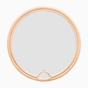 Runder Spiegel mit Rahmen aus Rattan in Lasso-Optik von AC/AL Studio für ORCHID EDITION