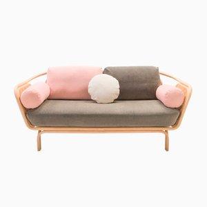 Calme Bôa Sofa mit Gestell aus Rattan von At-Once für ORCHID EDITION