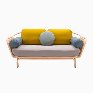 Hightec Bôa Sofa mit Gestell aus Rattan von At-Once für ORCHID EDITION