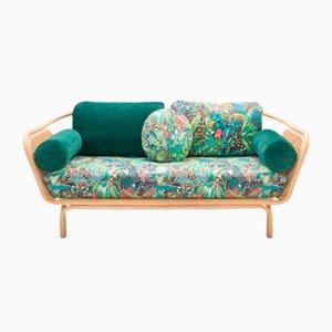 Jungle Bôa Sofa mit Gestell aus Rattan von At-Once für ORCHID EDITION