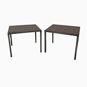 Vintage Industrial Bedside Tables, Set of 2