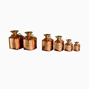Contenitori per misurare la benzina Chekpump vintage di Gaskell & Chambers, set di 6