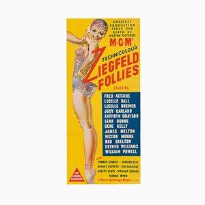 Póster Daybill australiano vintage de la película Ziegfeld Follies, 1945