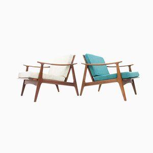 Dänische Sessel mit Gestell aus Teak, 1964, 2er Set