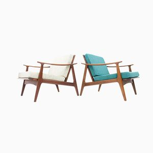 Poltrone in teak, Danimarca, 1964, set di 2