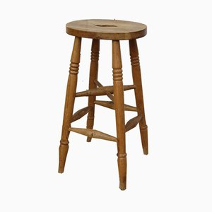 English Elm Bar Stools, 1930s, Set of 3