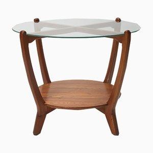 Table Basse Expo58 Vintage en Verre et Orme
