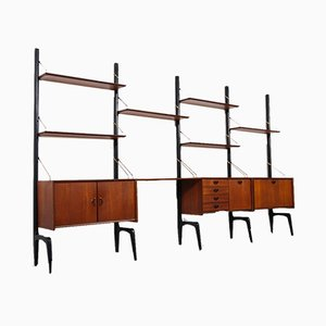 Dutch Teak Modular Wall Unit by Louis van Teeffelen for Webe, 1950s