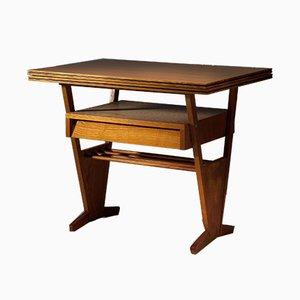 Tavolino Expo58 Mid-Century con ripiano regolabile