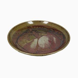 Piatto artistico in ceramica di Kati Lorand, anni '90