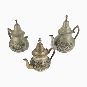 Antique Arabian Tea Pots from Papillon, Set of 3