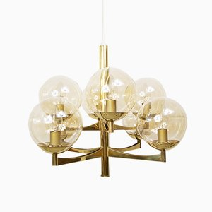 Brass Chandelier from Kaiser Leuchten, 1960s