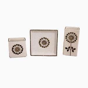 Petits Vases Grazia Mid-Century par Stig Lindberg pour Gustavsberg, Set de 3