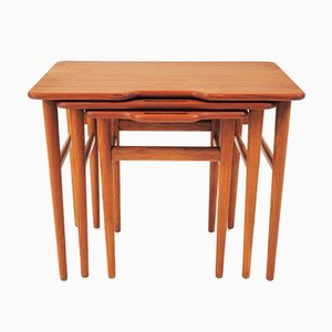 Vintage Teak Stacking Tables by Kurt Östervig for Jason
