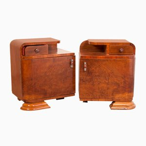 Art Deco Nightstands, 1935, Set of 2