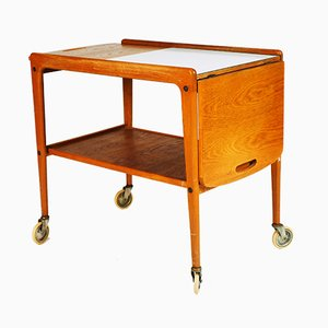Mid-Century Tea Trolley by Yngve Ekström for Swedese