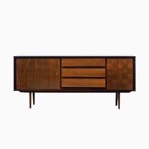 Mahogany Checkerboard Pattern Sideboard, 1960s