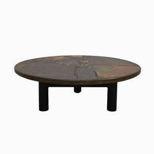 Table Basse Brutaliste Vintage par Paul Kingma, 1985