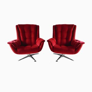 Swivel Armchairs from Gimson & Slater, 1970s, Set of 2