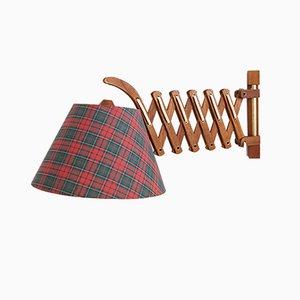 Mid-Century Teak Scissor Lamp