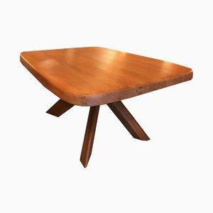 Modell Aban T35c Tisch aus Ulmenholz von Pierre Chapo, 1970er